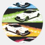 Nissan GTR pop-art Round Sticker