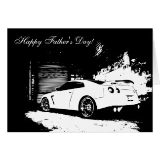 Nissan Skyline GT-R Father's Day Greeting Card