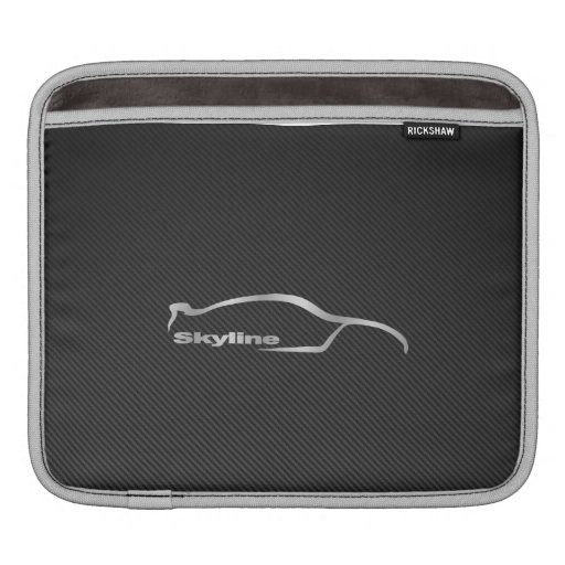 Nissan Skyline GT-R Logo with Faux Carbon Fiber Sleeves For iPads