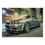 Nissan Skyline GT-R R34 in Downtown Los Angeles Print