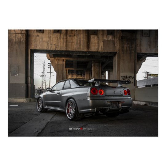 Nissan Skyline GT-R R34 in Downtown Los Angeles Poster