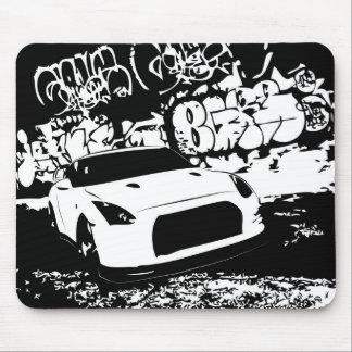 Nissan Skyline GTR with Graffiti Backdrop Mouse Pad