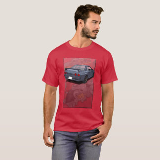 Nissan Skyline R32 with engine backdrop T-Shirt