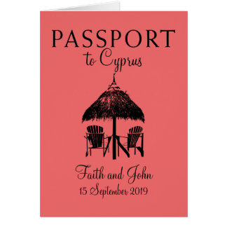 Nissi Beach Cyprus Passport | Wedding Card