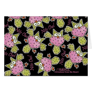 Nite Owl Collage Greeting Card