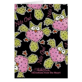 Nite Owl Collage Card