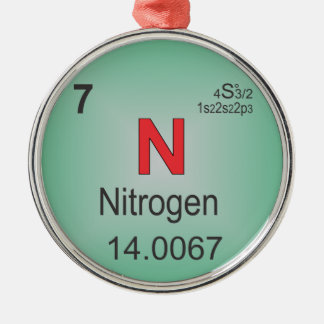 Nitrogen Individual Element of the Periodic Table Christmas Ornament
