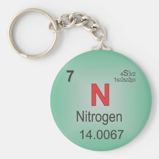 Nitrogen Individual Element of the Periodic Table Key Ring