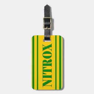 NITROX DIVING LOGO NITROX SCUBA DIVER - LUGGAGE TAG