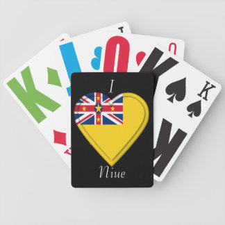 Niue flag bicycle playing cards