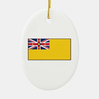 Niue Flag Christmas Ornament