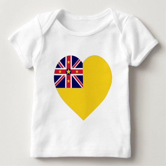 Niue Flag Heart Baby T-Shirt