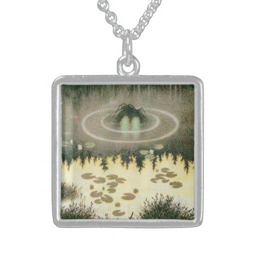 Nixie Water Spirit Vintage Art Custom Necklace