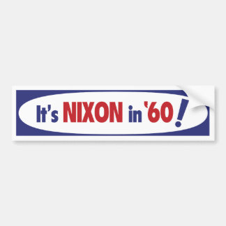 Nixon 1960 Bumper Sticker