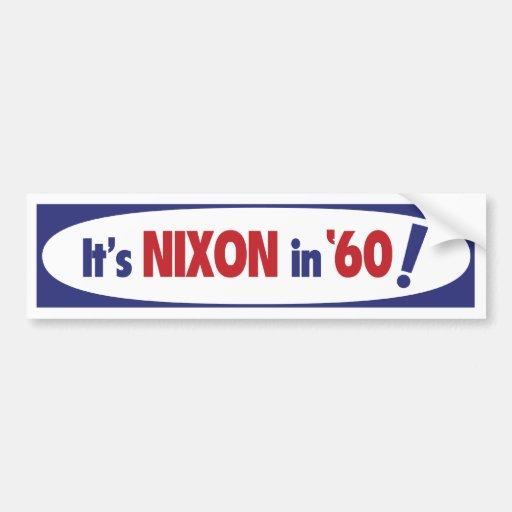 Nixon 1960 Bumper Sticker