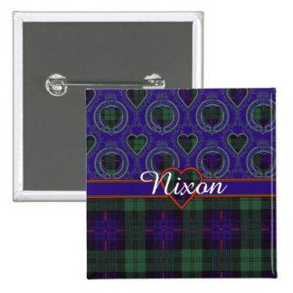 Nixon clan Plaid Scottish kilt tartan 15 Cm Square Badge