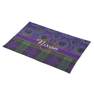 Nixon clan Plaid Scottish kilt tartan Placemats