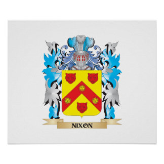Nixon Coat of Arms - Family Crest Poster