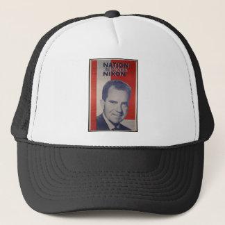 Nixon in 2012 trucker hat