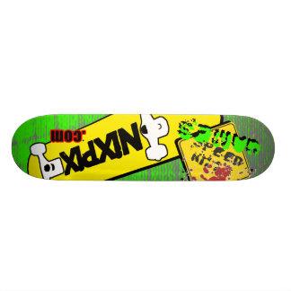 Nixpix Logo Board with Speed Kills Custom Skateboard