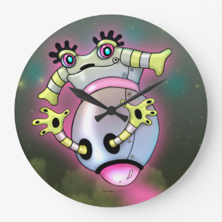 NIXXIE ROBOT CUTE CARTOON LARGE CLOCK ROUND