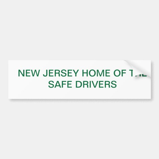 NJ Safe drivers Bumper Sticker