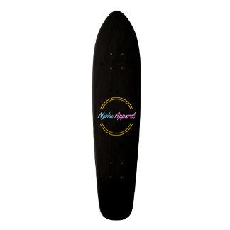 Njoku Apparel 'Circle' Logo Black Skateboard. 20.6 Cm Skateboard Deck