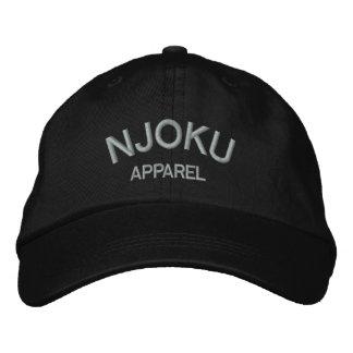 Njoku Apparel Logo Black Cap. Embroidered Hat