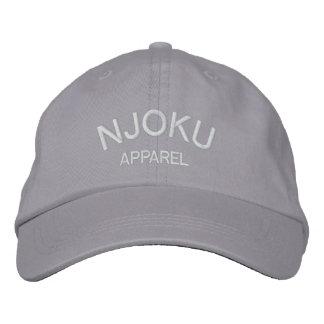 Njoku Apparel Logo Grey Cap. Embroidered Hat