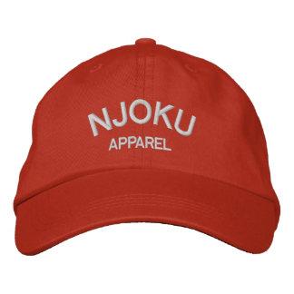 Njoku Apparel Logo Orange Cap. Embroidered Hat