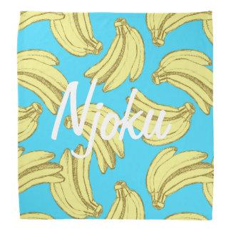Njoku Banana Print Bandana. Bandana