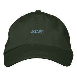 Njoku 'Blue Agape' Logo Dark Green Cap. Baseball Cap