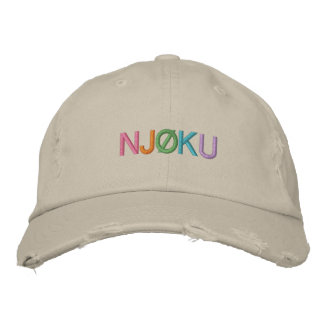 Njøku 'Colourful' Stone Distressed Cap. Embroidered Hat