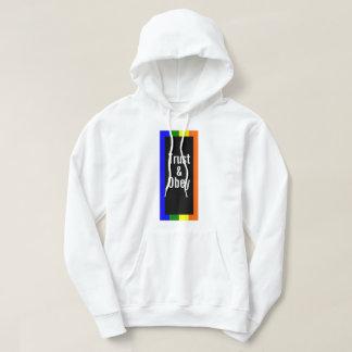 Njoku Colourful 'Trust & Obey' Logo Hoodie. Hoodie