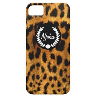 Njoku Leopard Skin Wreath iPhone 5/5s Phone Case. iPhone 5 Cases