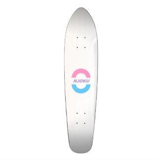 Njoku Pink/Purple/Blue 'Circle' Logo Skateboard. 18.1 Cm Old School Skateboard Deck