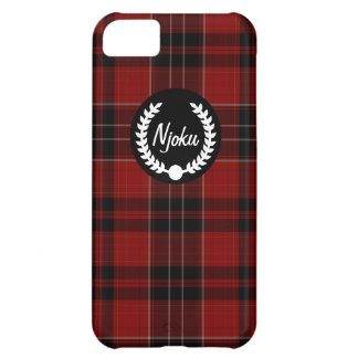 Njoku Tartan Print Wreath iPhone 5c Phone Case. iPhone 5C Case