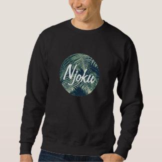 Njoku Tropical 'Circle' Logo Black Sweatshirt. Sweatshirt