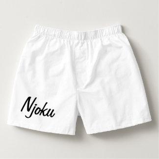 Njoku White Plain Boxers. Boxers