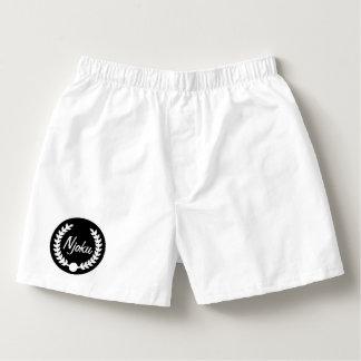 Njoku White 'Wreath' Plain Boxers. Boxers