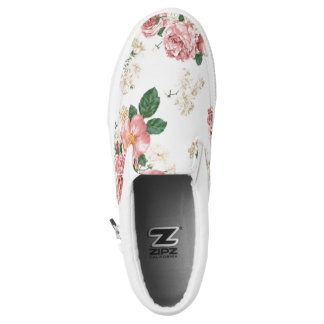 Njoku 'Wreath' Flower Print Slip-On Shoe. Printed Shoes