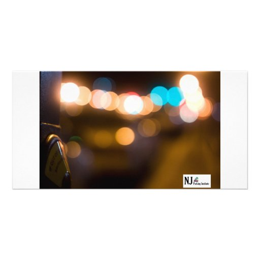 NJPI Parking meter takes on the night. Photo Greeting Card