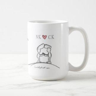 NK heart CK Basic White Mug