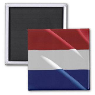 NL - Netherlands Oland - Waving Flag - Dutch Square Magnet