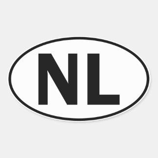 NL Oval Identity Sign Oval Sticker