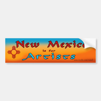 NM is for Artists Bumper Sticker