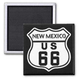 NM US ROUTE 66 SQUARE MAGNET
