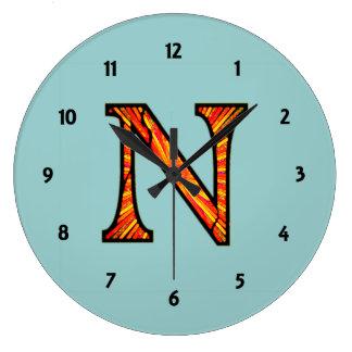 Nn Illuminated Monogram Wall Clock