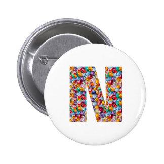 NNN N NN DDD D DD CCC C CC BBB B BB Gifts FUN 6 Cm Round Badge