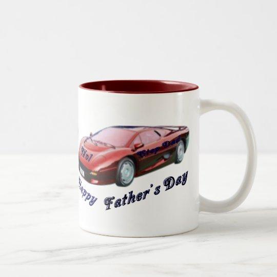 No1 Step Dad Two-Tone Coffee Mug